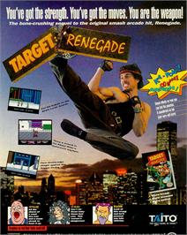 Advert for Target Renegade on the Nintendo NES.
