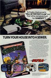 Advert for Teenage Mutant Ninja Turtles on the Nintendo NES.