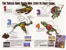 Advert for Teenage Mutant Ninja Turtles 3: The Manhattan Project on the Nintendo NES.