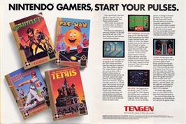 Advert for Tetris on the Commodore Amiga Demos.