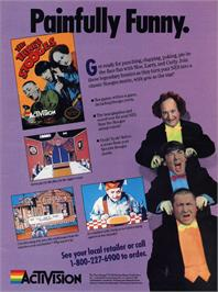 Advert for Three Stooges on the Commodore Amiga.