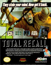 Advert for Total Recall on the Amstrad CPC.