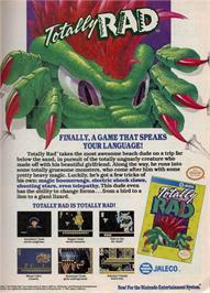 Advert for Totally Rad on the Nintendo NES.