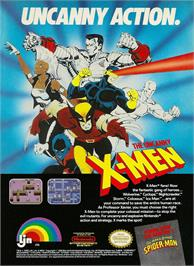 Advert for Uncanny X-Men on the Nintendo NES.