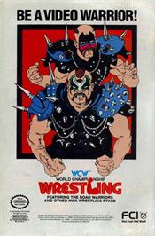 Advert for WCW: World Championship Wrestling on the Nintendo NES.