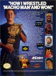 Advert for WWF Wrestlemania on the Microsoft DOS.
