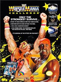 Advert for WWF Wrestlemania Challenge on the Nintendo NES.