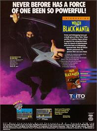 Advert for Wrath of the Black Manta on the Nintendo NES.