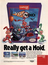 Advert for Yo! Noid on the Nintendo NES.