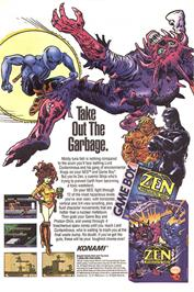 Advert for Zen: Intergalactic Ninja on the Nintendo NES.