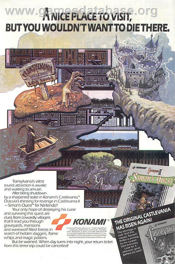 Castlevania 2: Simon's Quest - Nintendo NES - Artwork - Advert