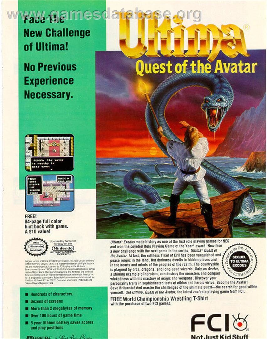 Ultima IV: Quest of the Avatar - Sega Master System - Artwork - Advert