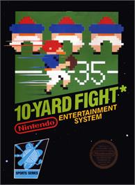 Box cover for 10-Yard Fight on the Nintendo NES.