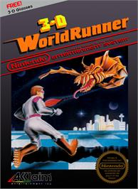 Box cover for 3D World Runner on the Nintendo NES.