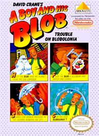 Box cover for A Boy and his Blob: Trouble on Blobolonia on the Nintendo NES.