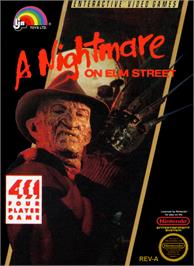 Box cover for A Nightmare on Elm Street on the Nintendo NES.