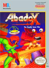 Box cover for Abadox: The Deadly Inner War on the Nintendo NES.