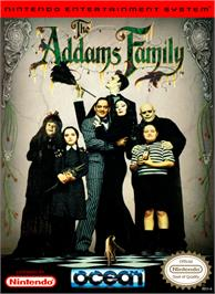 Box cover for Addams Family, The on the Nintendo NES.
