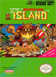 Box cover for Adventure Island on the Nintendo NES.
