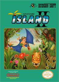 Box cover for Adventure Island 2 on the Nintendo NES.