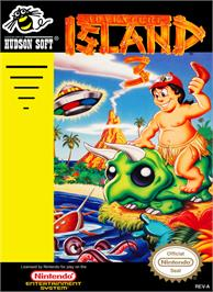 Box cover for Adventure Island 3 on the Nintendo NES.