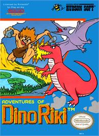 Box cover for Adventures of Dino-Riki on the Nintendo NES.