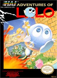 Box cover for Adventures of Lolo on the Nintendo NES.