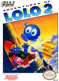 Box cover for Adventures of Lolo 2 on the Nintendo NES.