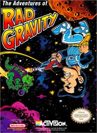 Box cover for Adventures of Rad Gravity on the Nintendo NES.