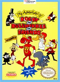 Box cover for Adventures of Rocky and Bullwinkle and Friends on the Nintendo NES.