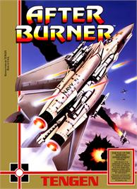 Box cover for After Burner on the Nintendo NES.
