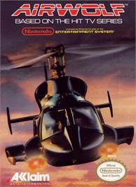 Box cover for Airwolf on the Nintendo NES.