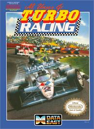 Box cover for Al Unser Jr. Turbo Racing on the Nintendo NES.