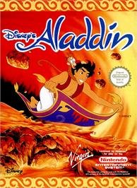 Box cover for Aladdin on the Nintendo NES.