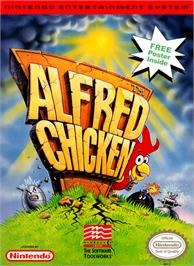 Box cover for Alfred Chicken on the Nintendo NES.