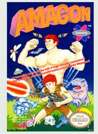 Box cover for Amagon on the Nintendo NES.