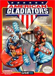Box cover for American Gladiators on the Nintendo NES.