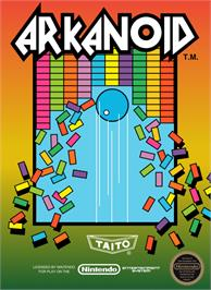 Box cover for Arkanoid on the Nintendo NES.