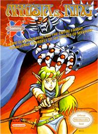 Box cover for Arkista's Ring on the Nintendo NES.