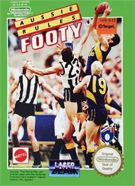 Box cover for Aussie Rules Footy on the Nintendo NES.