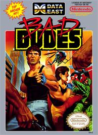 Box cover for Bad Dudes on the Nintendo NES.