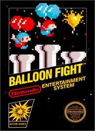 Box cover for Balloon Fight on the Nintendo NES.