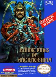 Box cover for Bandit Kings of Ancient China on the Nintendo NES.