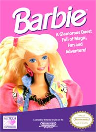 Box cover for Barbie on the Nintendo NES.