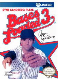 Box cover for Bases Loaded 3 on the Nintendo NES.