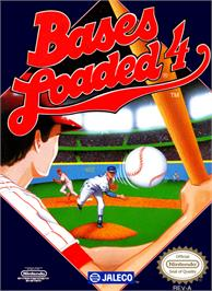 Box cover for Bases Loaded 4 on the Nintendo NES.