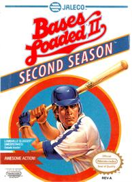 Box cover for Bases Loaded II: Second Season on the Nintendo NES.