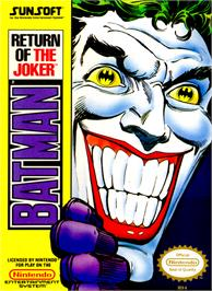 Box cover for Batman: Return of the Joker on the Nintendo NES.
