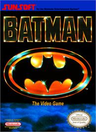 Box cover for Batman: The Video Game on the Nintendo NES.