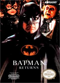 Box cover for Batman Returns on the Nintendo NES.